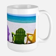 Lounge Chairs On Beach Mugs