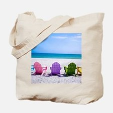 Lounge Chairs On Beach Tote Bag