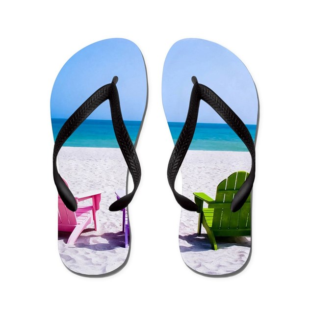 Lounge Chairs On Beach Flip Flops By WickedDesigns4