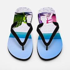 Lounge Chairs On Beach Flip Flops