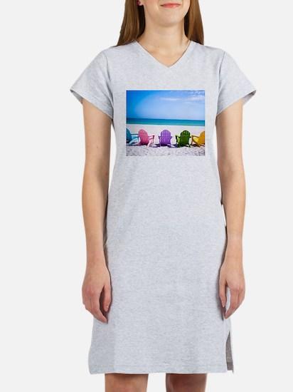 Lounge Chairs On Beach Women's Nightshirt