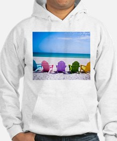Lounge Chairs On Beach Jumper Hoody