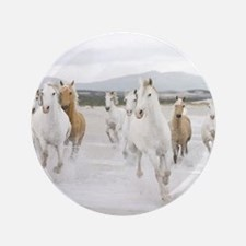 """Horses Running On The Beach 3.5"""" Button (100 pack)"""