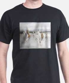 Horses Running On The Beach T-Shirt