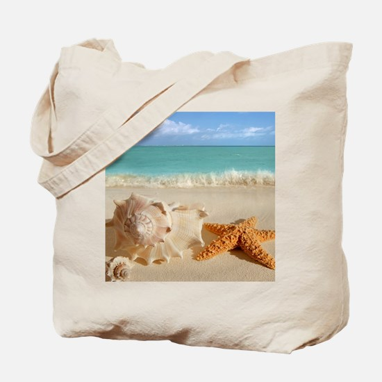 Seashell And Starfish On Beach Tote Bag