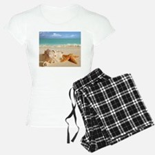 Seashell And Starfish On Beach pajamas