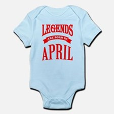 Legends Are Born In April Body Suit