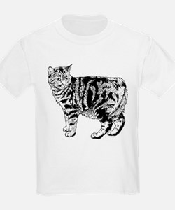 Manx Cat (Front only) T-Shirt