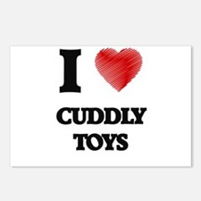 I love Cuddly Toys Postcards (Package of 8)