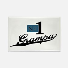 Number One Grampa Rectangle Magnet
