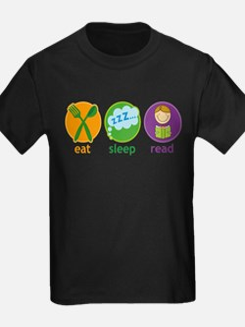 Cute Books sleep T
