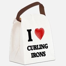 I love Curling Irons Canvas Lunch Bag