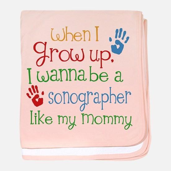Sonographer Like Mommy baby blanket