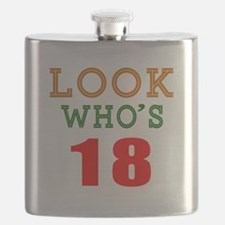 Look Who's 18 Birthday Flask