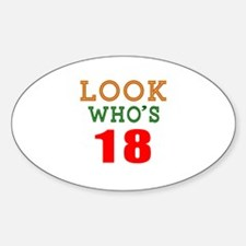 Look Who's 18 Birthday Decal