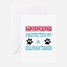 Warning Protected by a Sealyham Terr Greeting Card