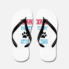 Warning Protected by a Soft Coated Whea Flip Flops