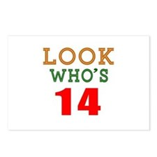 Look Who's 14 Birthday Postcards (Package of 8)