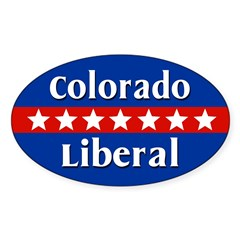 Colorado Liberal Oval Car Decal