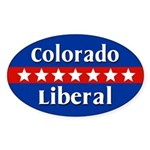 Colorado Liberal Oval Car Sticker