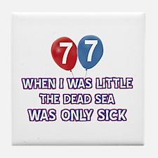 77 year old dead sea designs Tile Coaster