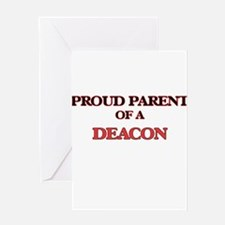 Proud Parent of a Deacon Greeting Cards