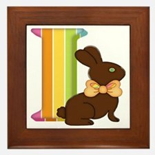 Unique Rabbit easter bunny chocolate make mine chocolate Framed Tile