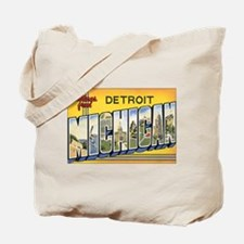 Michigan Postcard Tote Bag