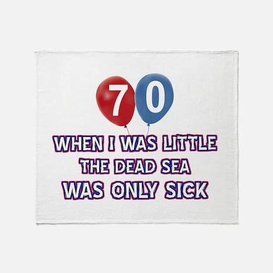 70 year old dead sea designs Throw Blanket