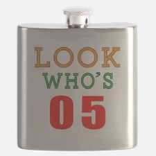 Look Who's 05 Birthday Flask