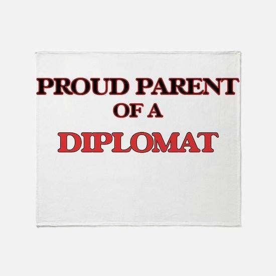 Proud Parent of a Diplomat Throw Blanket
