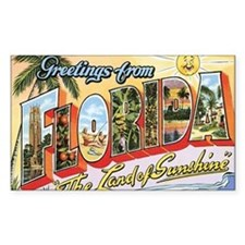 Florida Postcard Rectangle Decal