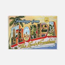 Florida Postcard Rectangle Magnet