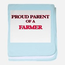 Proud Parent of a Farmer baby blanket
