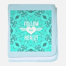 follow your heart positive baby blanket