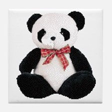 Cute Stuffed Panda Tile Coaster