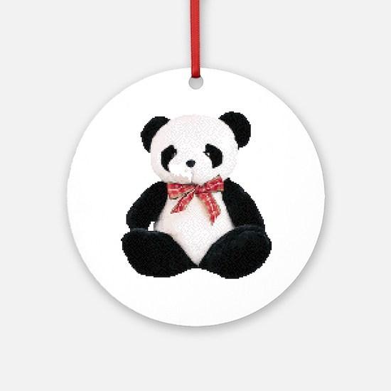 Cute Stuffed Panda Ornament (Round)