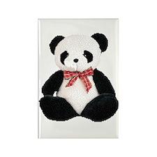 Cute Stuffed Panda Rectangle Magnet