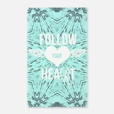 follow your heart positive Area Rug