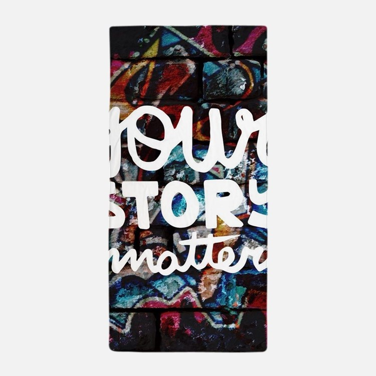 your story matters graffiti hip hop Beach Towel