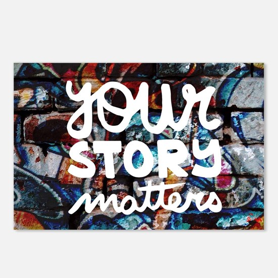 your story matters graffi Postcards (Package of 8)