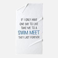 SWIM MEET Beach Towel