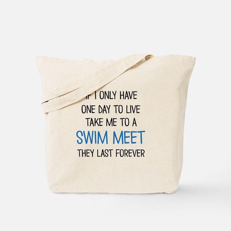 SWIM MEET Tote Bag
