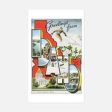 Idaho Postcard Rectangle Decal