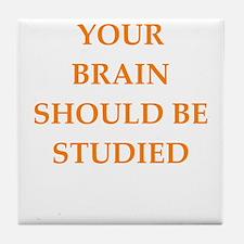 brain Tile Coaster
