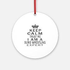 Sumo Wrestling Expert Designs Round Ornament