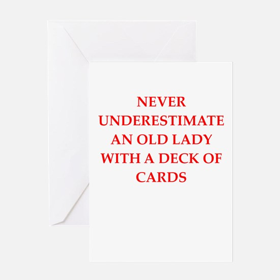 old lady Greeting Cards