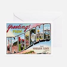 Indiana Postcard Greeting Card