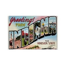 Indiana Postcard Rectangle Magnet