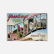 Indiana Postcard Rectangle Magnet
